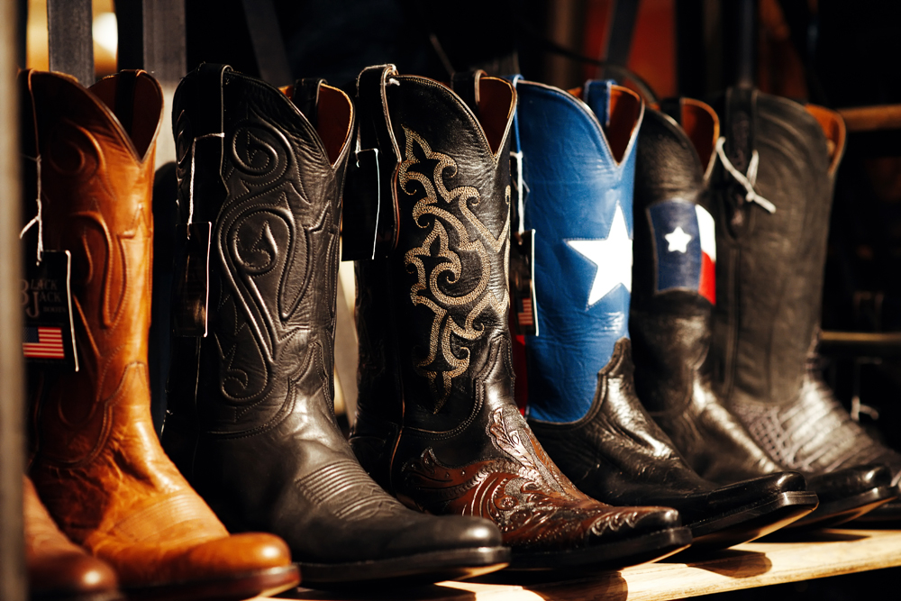 Cowboy Boots in shop