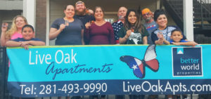Live Oak Apartment Better World Properties_SSmiles After Harvey_Dinner Is On Us