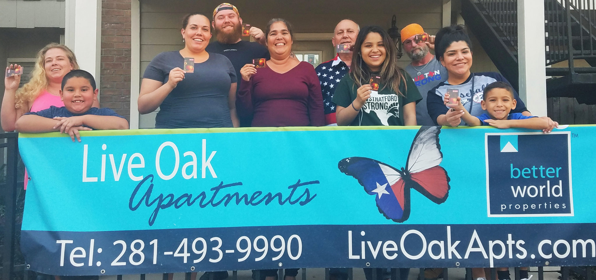 Live Oak Apartment Better World Properties_SSmiles After Harvey_Dinner Is On Us