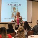 Terri Clifton teaching Leasing 101, Houston Apartment Association 2018